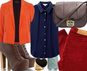 Kolorowy outfit jesienny.