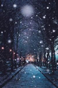 Zima w mieście.
