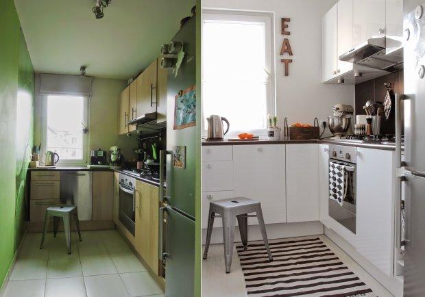 Nowoczesna kuchnia małym kosztem  Kobiece spojrzenie na   -> Kuchnia Bez Kafelek